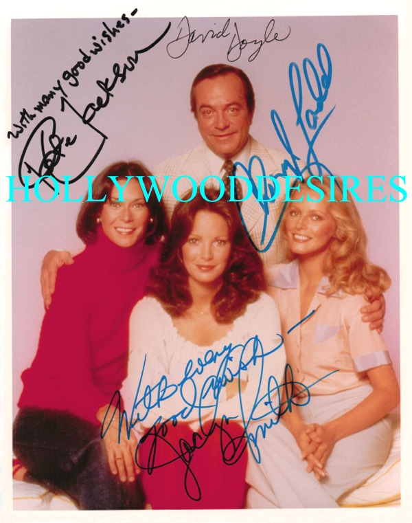 CHARLIES ANGELS CAST SIGNED 8x10 PHOTO