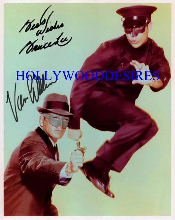 THE GREEN HORNET CAST SIGNED AUTOGRAPHED 8x10 PHOTO VAN WILLIAMS AND BRUCE LEE